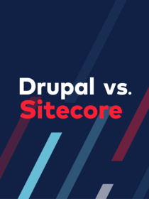 Teaser for Drupal vs Sitecore ebook