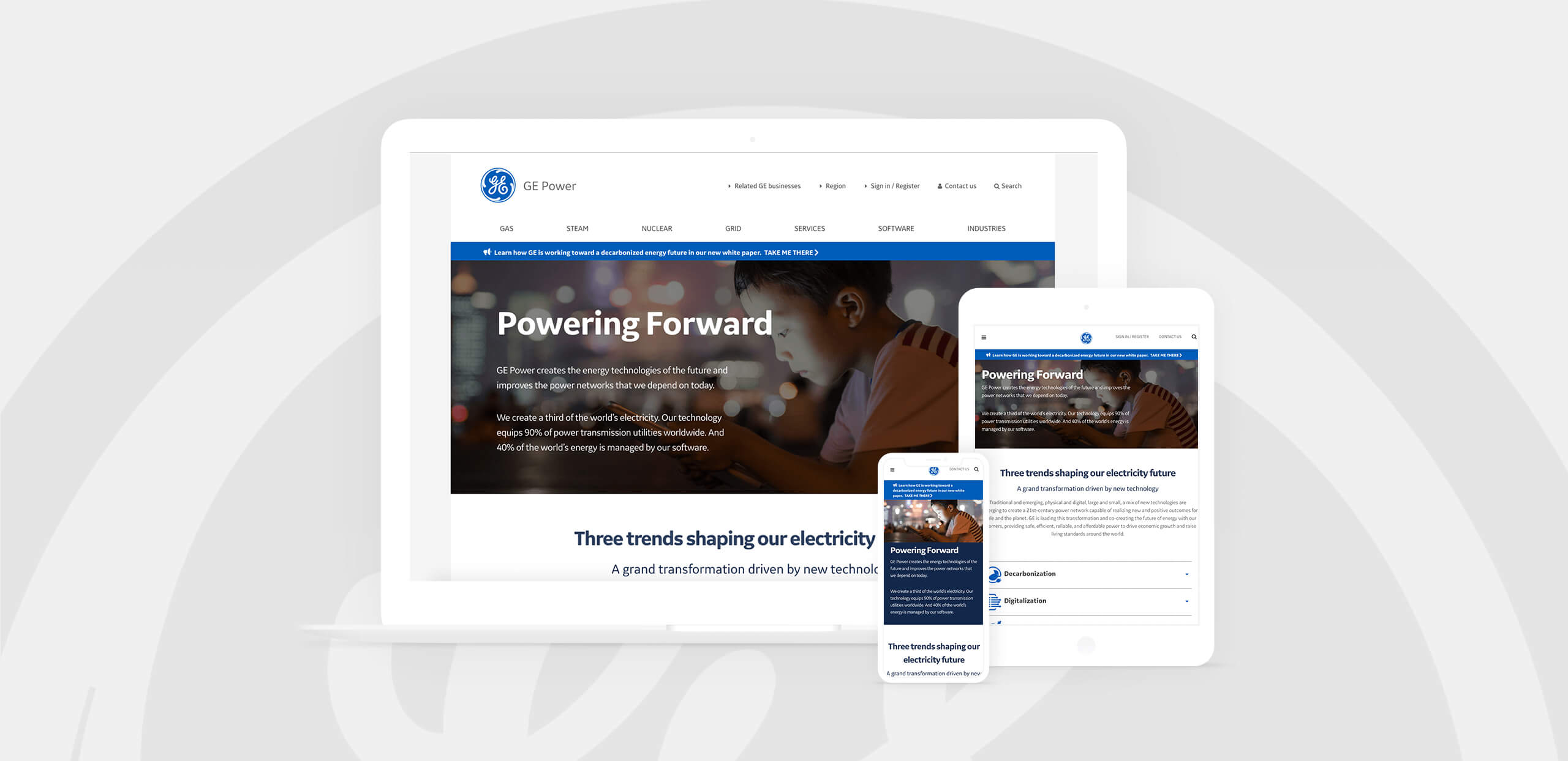 GE Energy Website Mockups