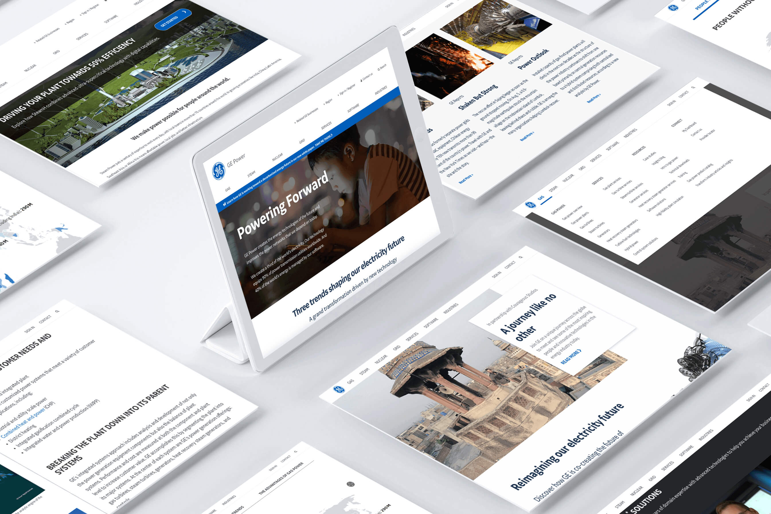 GE Energy Pages Mockups