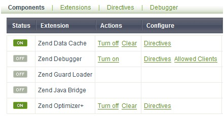 Zend Data Cache and Zend Optimizer